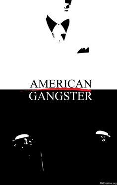 American Gangster - Minimalist movie poster featuring Denzel Washington as Frank Lucas #GangsterMovie #GangsterFlick