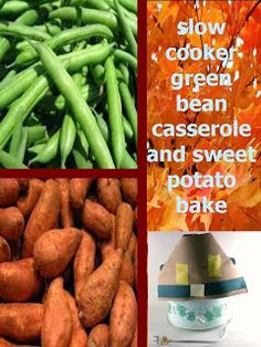 """""""grown up"""" green bean casserole and savory sweet potato bake in the slow cooker -- no cream of anything soup!"""