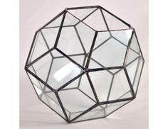 "6.7"" D. Rombotriakontaedr / Geometric Glass Terrarium / by DecoRiteRu"