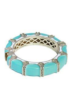 HauteLook | Saachi Jewelry Staples: Teal Scalloped Bangle