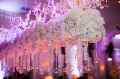 Suspended reception floras make a statement. The French Bouquet Tulsa, Ok The Mayo Hotel Photos: Picturesque by Amanda