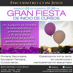 SÁBADO 23 DE FEBRERO 21:30 Hs - GRAN FIESTA DE INICIO DE CURSOS Supernatural, Pray, February, Dios, Party, Occult