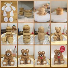 Teddy bear cake tutorial. I enjoyed making this cake and missed taking photos of some of the steps.