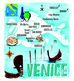 Venice map by Scott Jessop in the December 2012 issue of The Sunday Times Travel Magazine