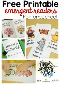 Printable emergent readers for preschool - The Measured Mom