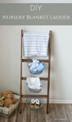 DIY Blanket Ladder |
