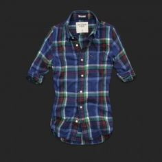 Abercrombie and Fith Womens Plaid Shirts 038