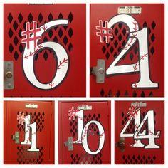 This weeks senior baseball locker decorations... Making Jake's senior year as memorable as possible