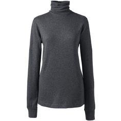 Lands' End Women's Petite Supima Jacquard Turtleneck Sweater ($40 ...