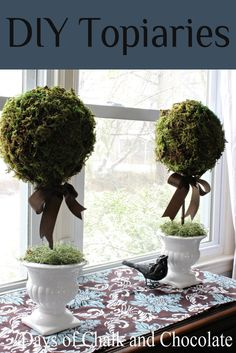 Days of Chalk and Chocolate: DIY Paper Mache Topiaries