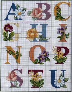 Alphabet with flowers 1.