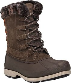 f623814c62f8 Propet Lumi Tall Lace Duck Boot (Women s) in Brown Suede - NEW  fashion