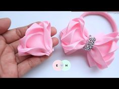 Amazing Ribbon Bow - Hand Embroidery Works - Ribbon Tricks & Easy Making Tutorial - Free Online Videos Best Movies TV shows - Faceclips Ribbon Hair Bows, Diy Hair Bows, Diy Ribbon, Ribbon Work, Ribbon Crafts, Ribbon Bow Tutorial, Hair Bow Tutorial, Embroidery Works, Ribbon Embroidery