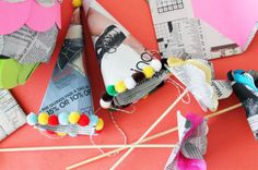 Newspaper Party Hats | 100 Ways to Repurpose Everything