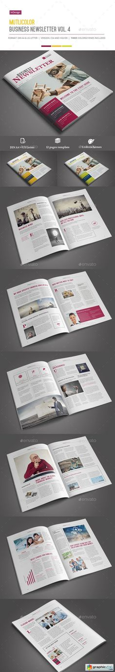 Business Newsletter Newsletter templates, Print templates and - sample business newsletter