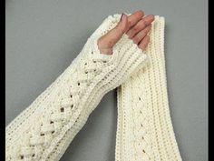 Crochet: Guantes sin dedos o Mitones # 3