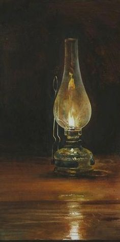 """""""Dreaming""""  2012  -  Watercolor Painting by ATANAS MATSOUREFF  -  Bulgaria www.matsoureff.bgcatalog.com Fire Candle, Candle Lamp, Candle Lanterns, Antique Oil Lamps, Kerosene Lamp, Painting Still Life, Still Life Photography, Art Techniques, Painting Inspiration"""