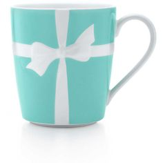 Tiffany Bows Mug ($35) ❤ liked on Polyvore featuring home, kitchen & dining, drinkware, accessories, mugs, fillers, kitchen, tiffany & co. and ceramic mugs