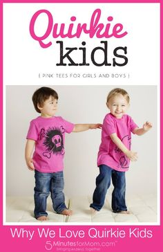Pink Tees for Girls AND Boys from Quirkie Kids #Giveaway — 5 Minutes for Mom