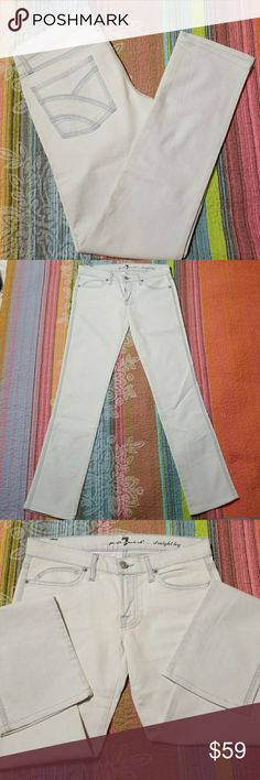 NWOT 7 For All mankind straight leg Never worn 7 For All Mankind Jeans Straight Leg