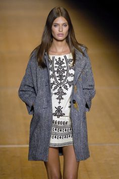 Isabel Marant - nice mix, though I recommend opaque tights for real life.