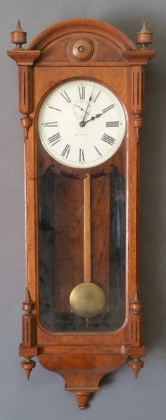 Seth Thomas #6 Oak Regulator Clock. 46 Inches High.
