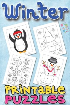 Printable Winter Puzzles for Kids - itsybitsyfun.com
