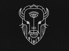 Dribbble - Geometric Buffalo by Jeremy Vessey Bison Tattoo, Buffalo Logo, Convention Tattoo, Flash Art, Ink Illustrations, Grafik Design, Cool Art, Art Drawings, Art Prints
