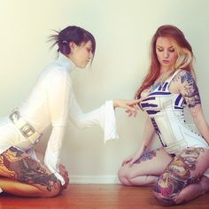 Leia and R2-D2