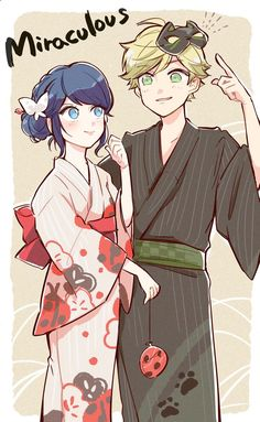 Marinette and Adrien in their Chinese Kimonos from Miraculous Ladybug and Cat Noir Miraculous Ladybug Wallpaper, Miraculous Ladybug Fan Art, Meraculous Ladybug, Ladybug Comics, Lady Bug, Ladybug Und Cat Noir, Marinette Et Adrien, Catty Noir, Bugaboo