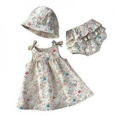 Resultado de imagen para patrones para ropa de bebe niña
