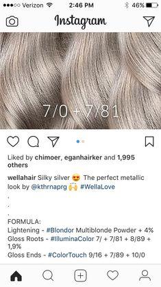 (notitle) #haircolor #hairstyle #haarfarbe #frisuren Wella Toner, Hair Toner, Hair Color Formulas, Hair Color Techniques, Black Hair Care, Haircut And Color, Love Hair, Silver Hair, Hair Highlights