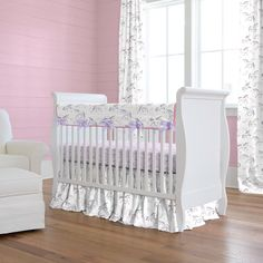 Watercolor Unicorns Crib Bedding by Carousel Designs.