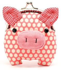 If I could have a store full of cute and funky stuff, I'd sell this: Misala Little Salmon Pink Piggy Clutch Purse