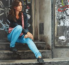 Urban Youth Paintings by Michele Del Campo Pictures) Italian Painters, Italian Artist, Spanish Painters, Amazing Paintings, Oil Paintings, Her Majesty The Queen, Photorealism, New People, Figure Painting