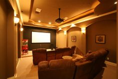 Your very own home theater equipped with its own popcorn machine!