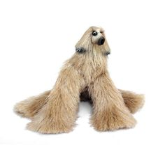 miniature dog, cute plush toy, Afghan Hound, blonde dog figurine, faux fur toy, needle felted dog, miniature animal, dog sculpture Stuffed