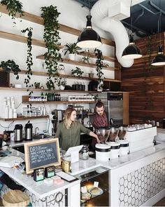 We have an amazing team that shows up everyday to take care of people. They continually push their own skill level to provide better experiences for our customer…you guys rock! Small Coffee Shop, Coffee Store, Coffee Shop Design, Cafe Design, Cute Coffee Shop, Deco Restaurant, Modern Restaurant, Kaffee To Go, Coffee Shop Aesthetic