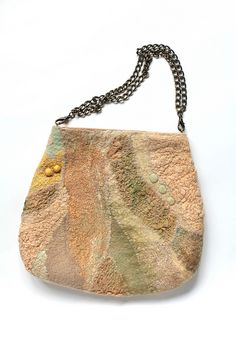 Love the chain handles..... Nuno Felted Bag by FeltedPleasure, via Flickr