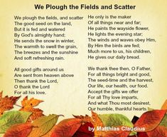 Best Thanksgiving Poems