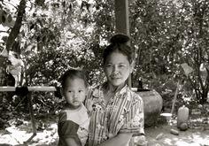 Cambodja Kind met Moeder