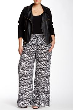 Printed Palazzo Pant (Plus Size) by Carol Rose on @nordstrom_rack