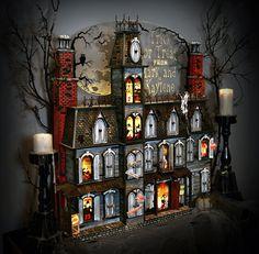 Halloween advent house ideas