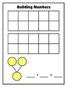 This versatile mat is for composing and decomposing teen numbers using a double ten frame and a number bond.   FREEBIE!!!