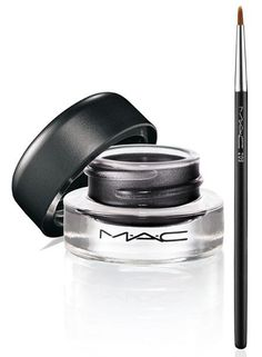 MAC fluidline gel eyeliner- favorite: Macroviolet. The first gel liner I ever tried & loved! And this color really plays up green in eyes :)