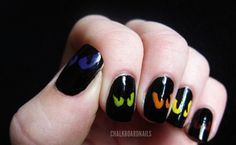 Spooky Eyes Halloween Nails Unas Una Decoradas