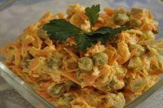 Салат «Купеческий» со свининой и зеленым горошком