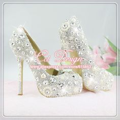 2013 TOP QUALITY HANDMADE SEXY FASHION HIGH HEELS DIAMOND RHINESTONE WEDDING BANQUET WHITE SILVER CRYSTAL WOMEN SHOES LADY -in Pumps from Shoes on Aliexpress.com $199.00