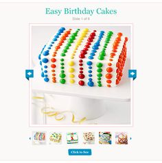 click to find easy birthday cakes