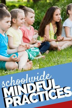Want to encourage mindful practices throughout your school community? Read up on these school-wide mindfulness activities you can use in elementary school, middle school, and high school. Teach your s Elementary School Counseling, School Counselor, Elementary Schools, Primary Education, High Schools, Art Education, World History Teaching, World History Lessons, School Leadership